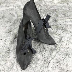 EUC✨FRATELLI ROSSETTI Gray Suede Ankle Boot 38/7.5
